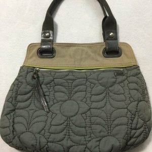 Fossil Keyper Gray Floral Quilted Purse Bag